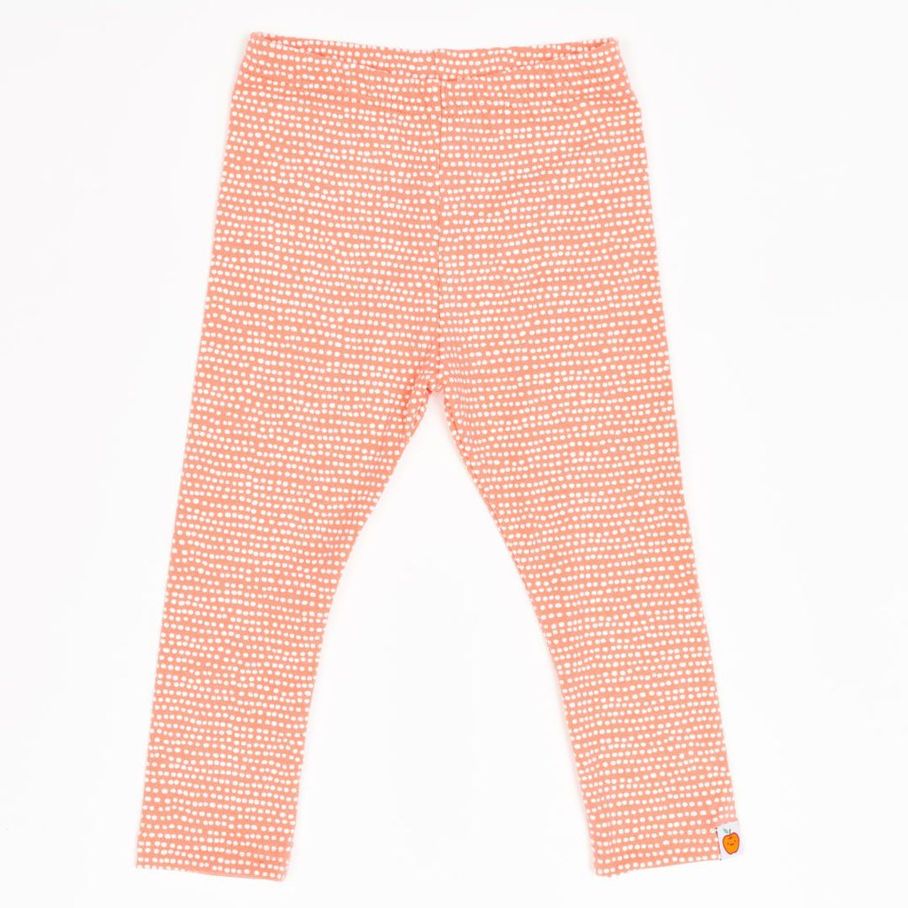 "Leggings ""Dotted Lines Coral"""