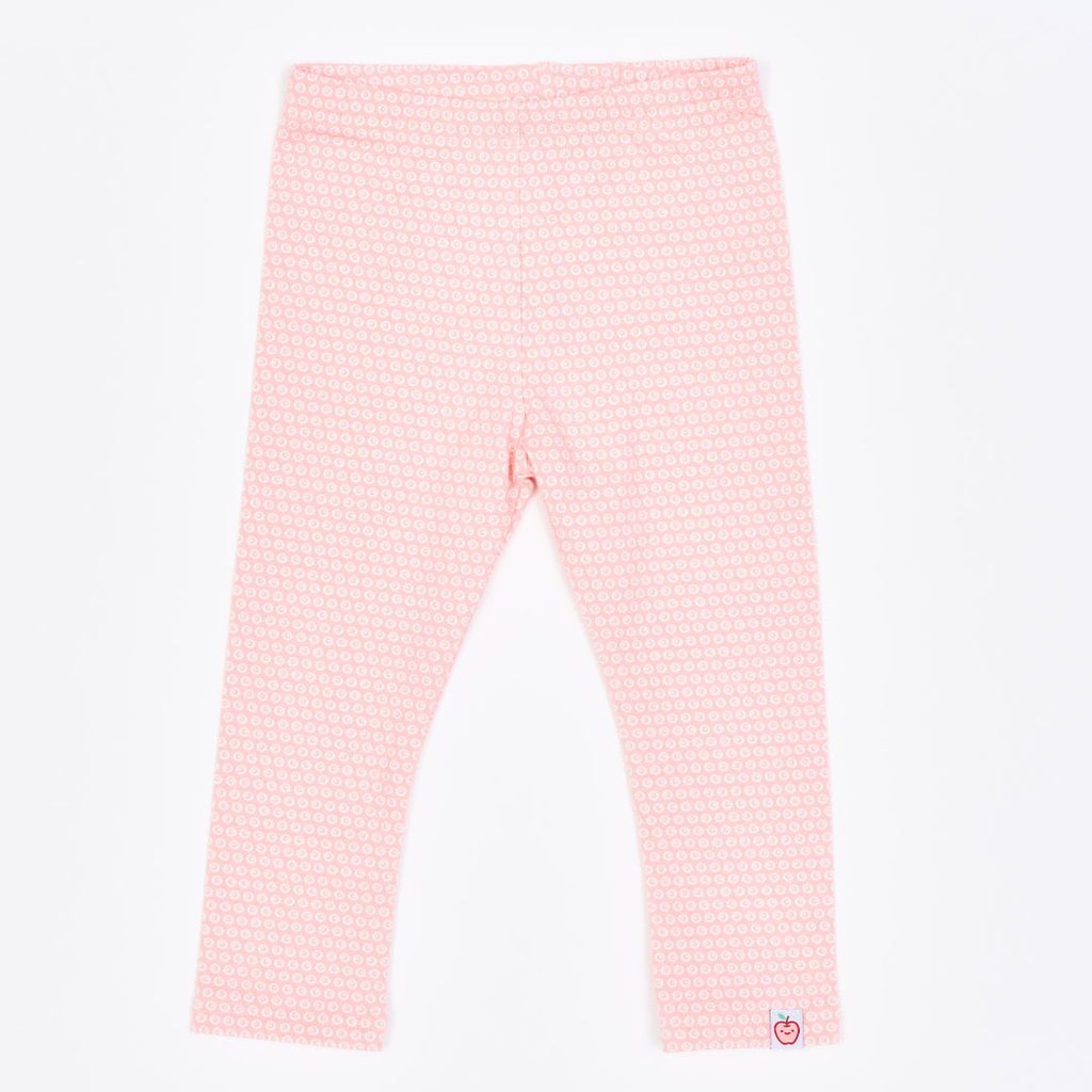 "Organic leggings ""Kuller Peach Rose"" made from 95% organic cotton and 5% elastane"