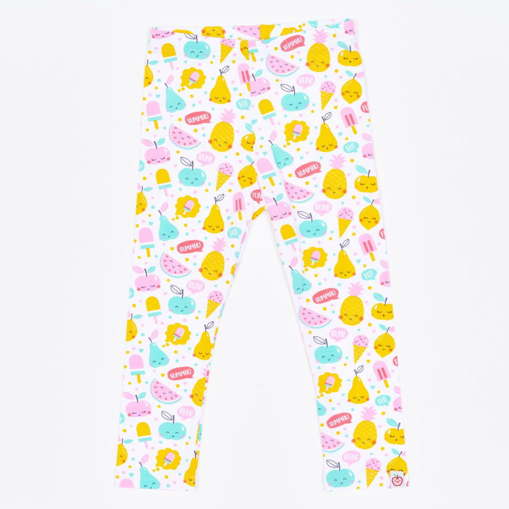 "Organic leggings ""Yummy"" made from 95% organic cotton and 5% elastane"