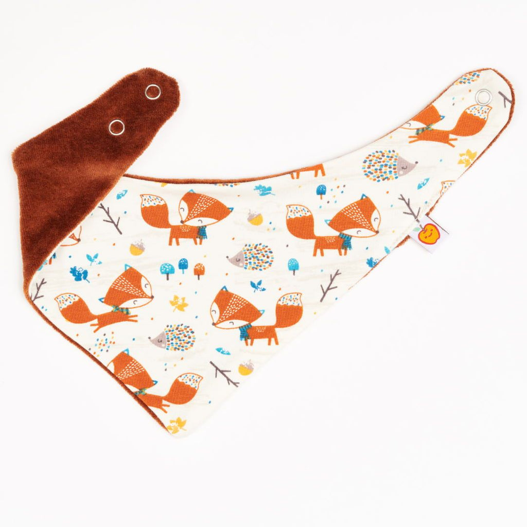 "Dribble bib ""Fox & Hedgehog/Nicki Copper"""
