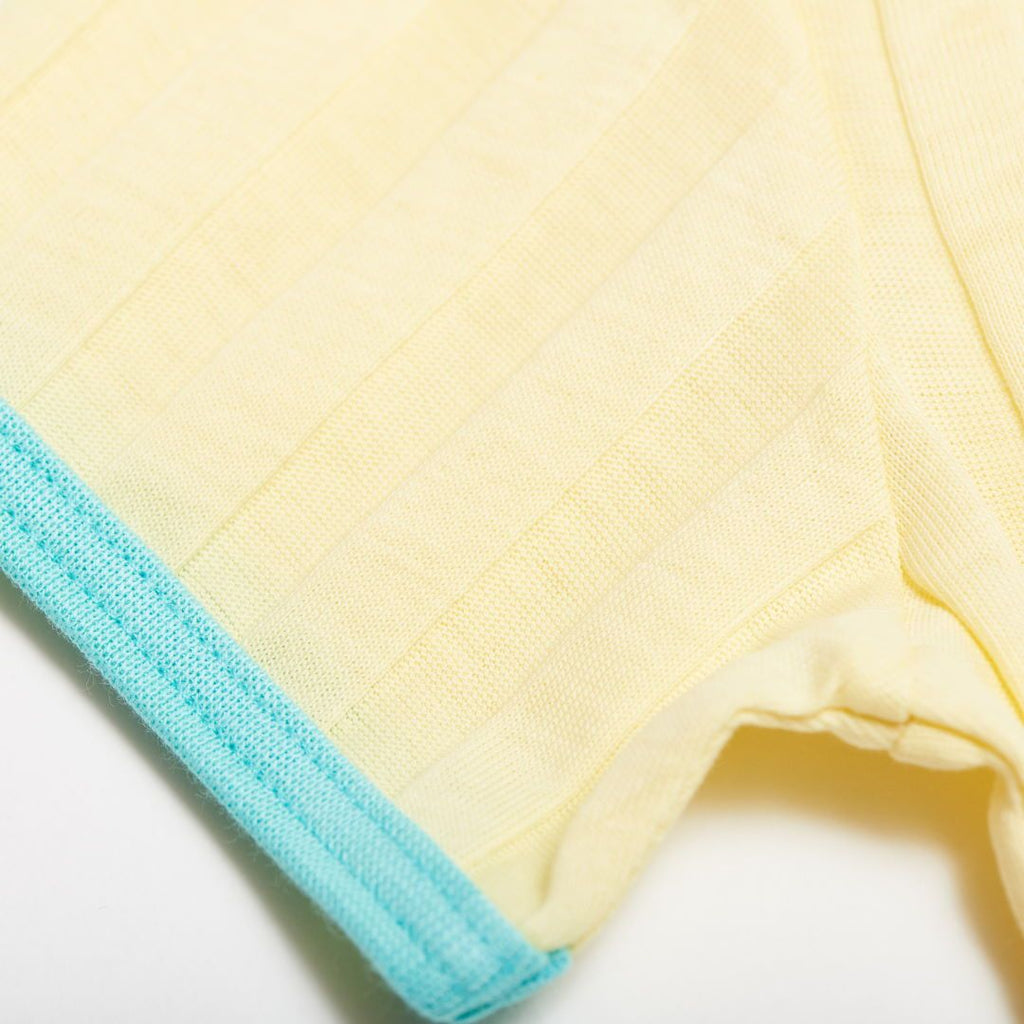 "Girls' Short-sleeve Top ""Ribbed Jersey Vanilla/Mint"""