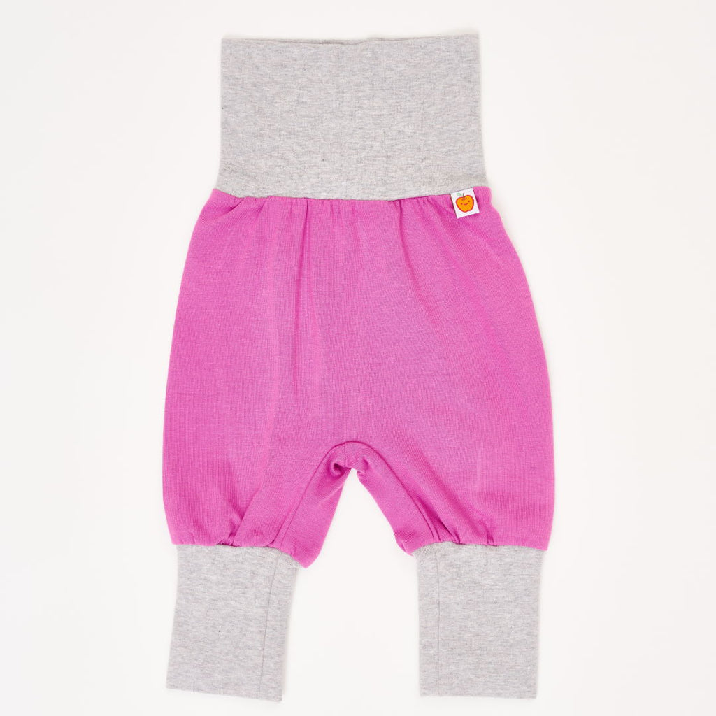 "Baby jersey pants ""Orchid/Grey"""