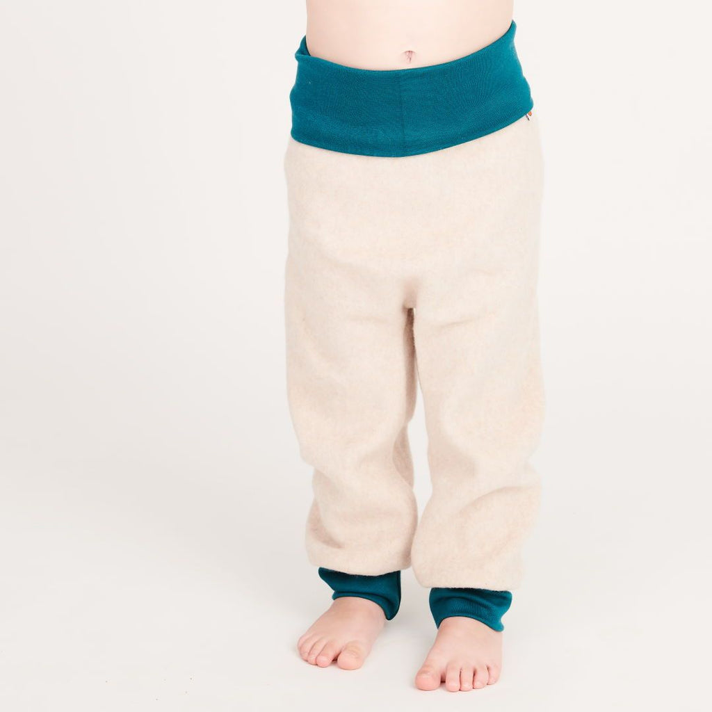 "Baby pants ""Fleece Nude Marl/Petrol"