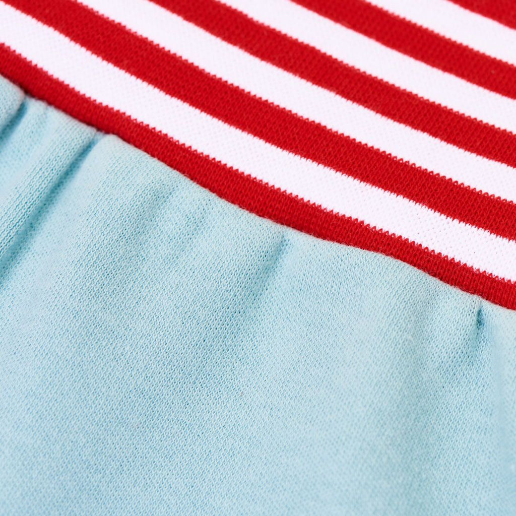 "Baby pants ""Interlock Slate/Red-White Stripes"""