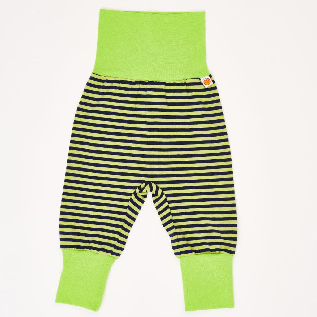 "Baby pants ""Lime-Petrol Stripes/Lime"""