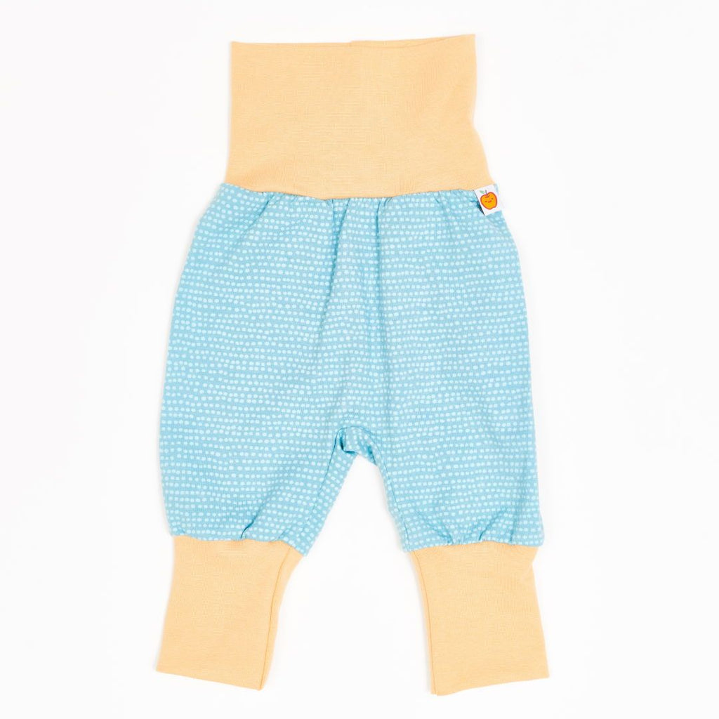 "Baby pants ""Dotted Lines Turquoise/Cream"""