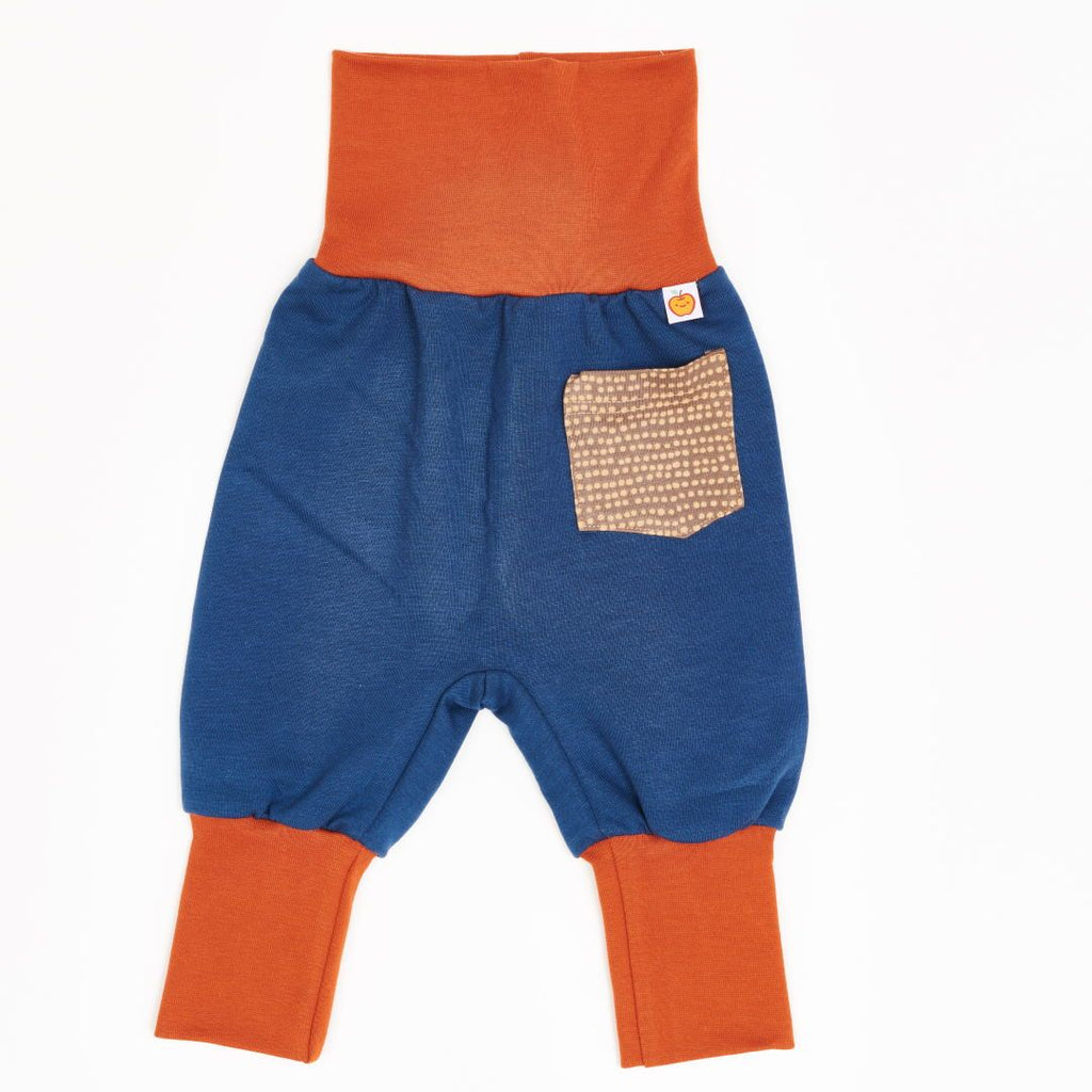 "Baby sweat pants ""Indigo/Dotted Lines Taupe"""