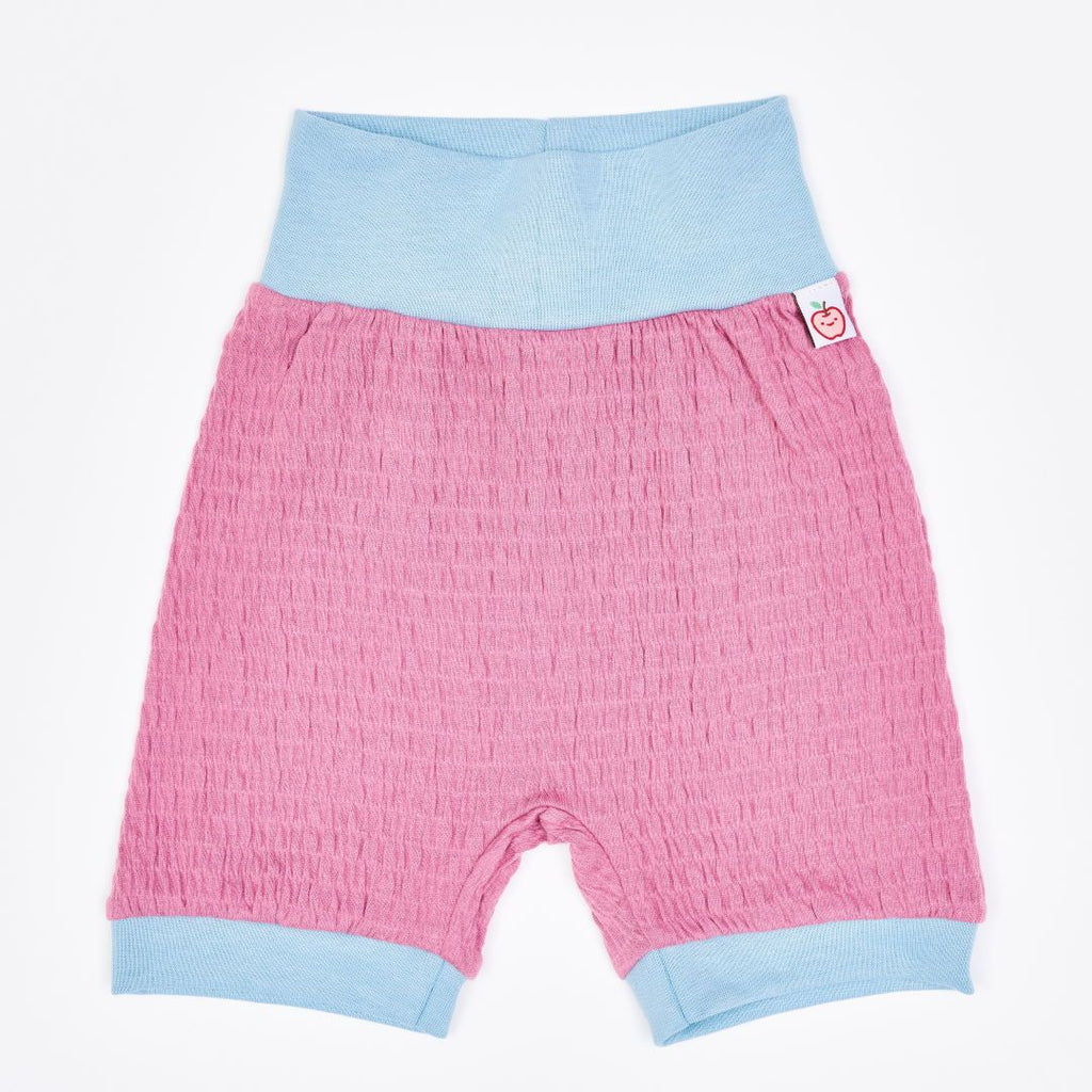 "Organic pumpshorts ""Crincle Vintage Rose"" made from 95% organic cotton and 5% elastane"