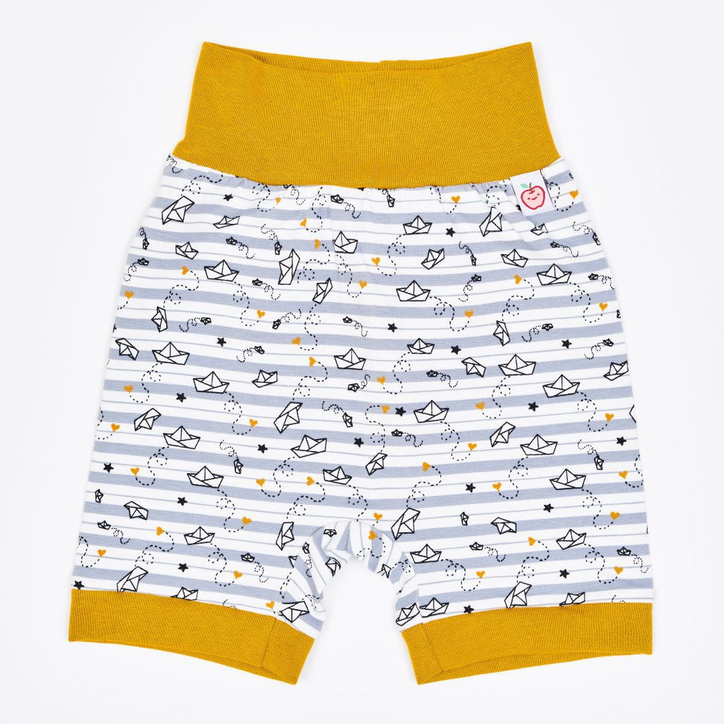 "Organic pumpshorts ""My little golden Ship"" made from 95% organic cotton and 5% elastane"