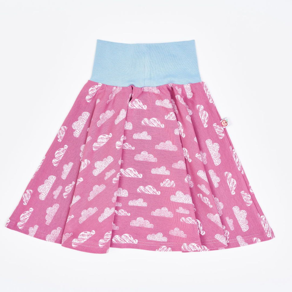 "Skirt ""Clouds Vintage Rose"" made from 95% organic cotton and 5% elastane"