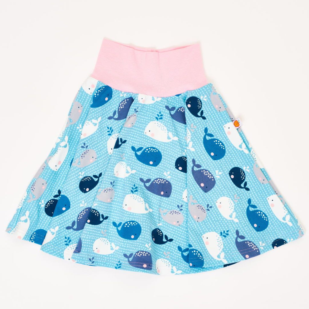 "Skirt ""Whales/Baby Pink"""
