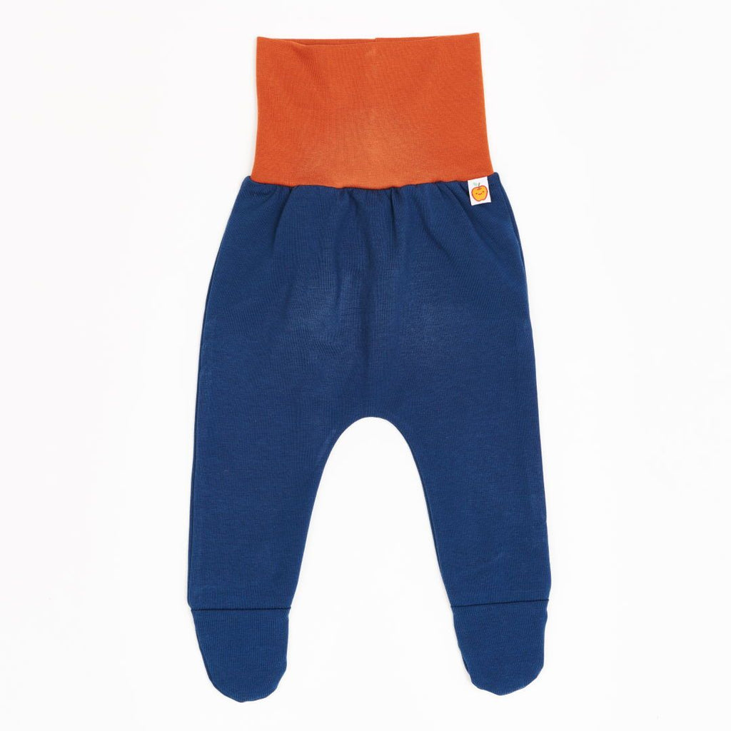 "Footed pants ""Jersey Indigo/Rust"""