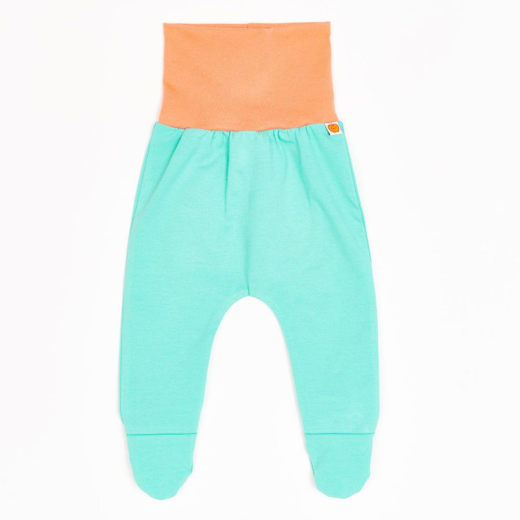 "Footed sweat pants ""Sweat Mint/Apricot"""