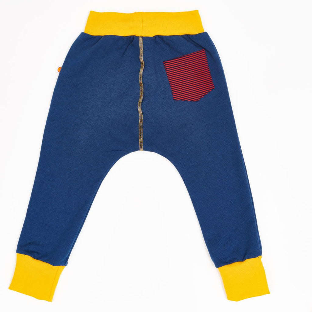 "Boys' Sweatpants ""Indigo/Dark blue & red Stripes"""