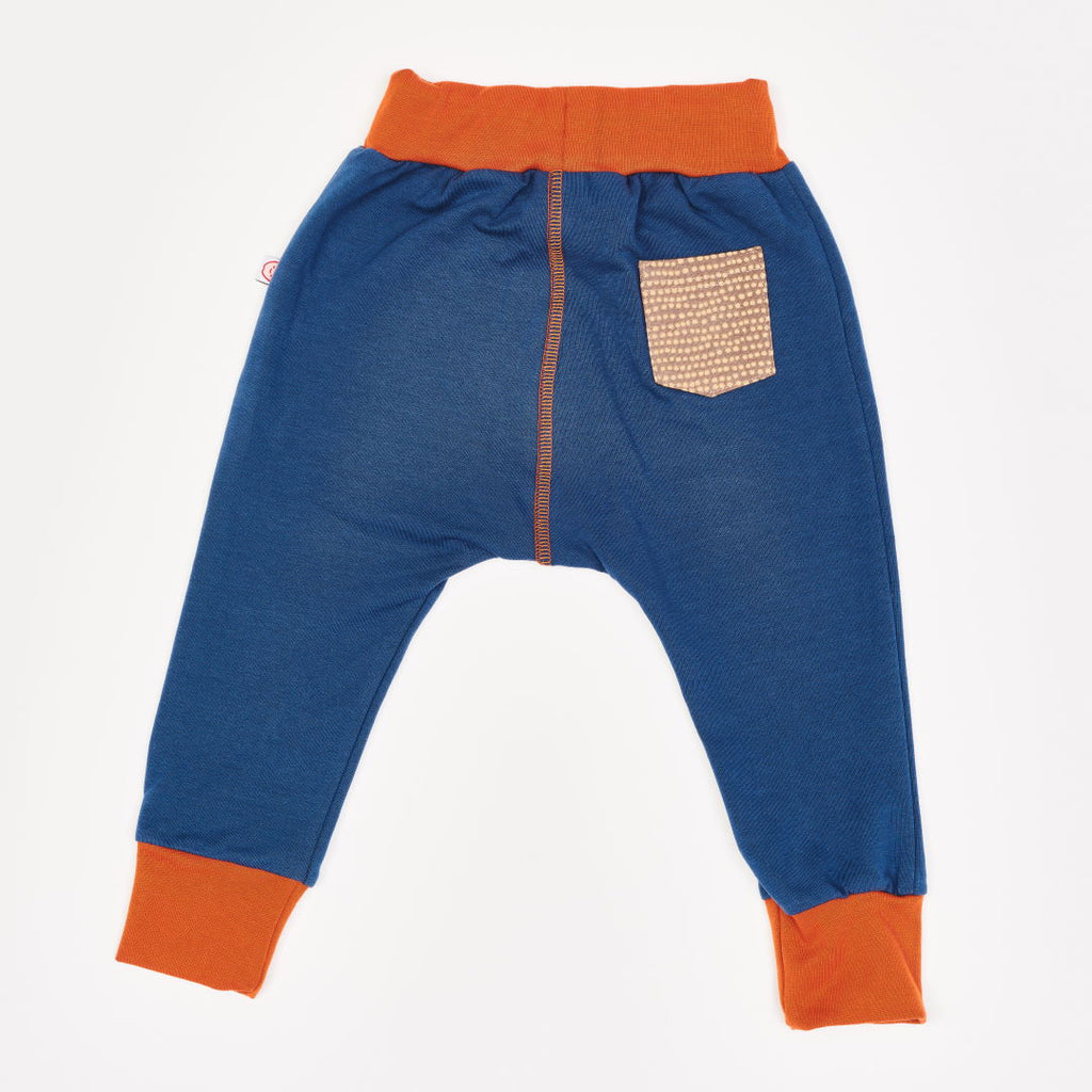 "Boys' Sweatpants ""Indigo/Dotted Lines Taupe"""