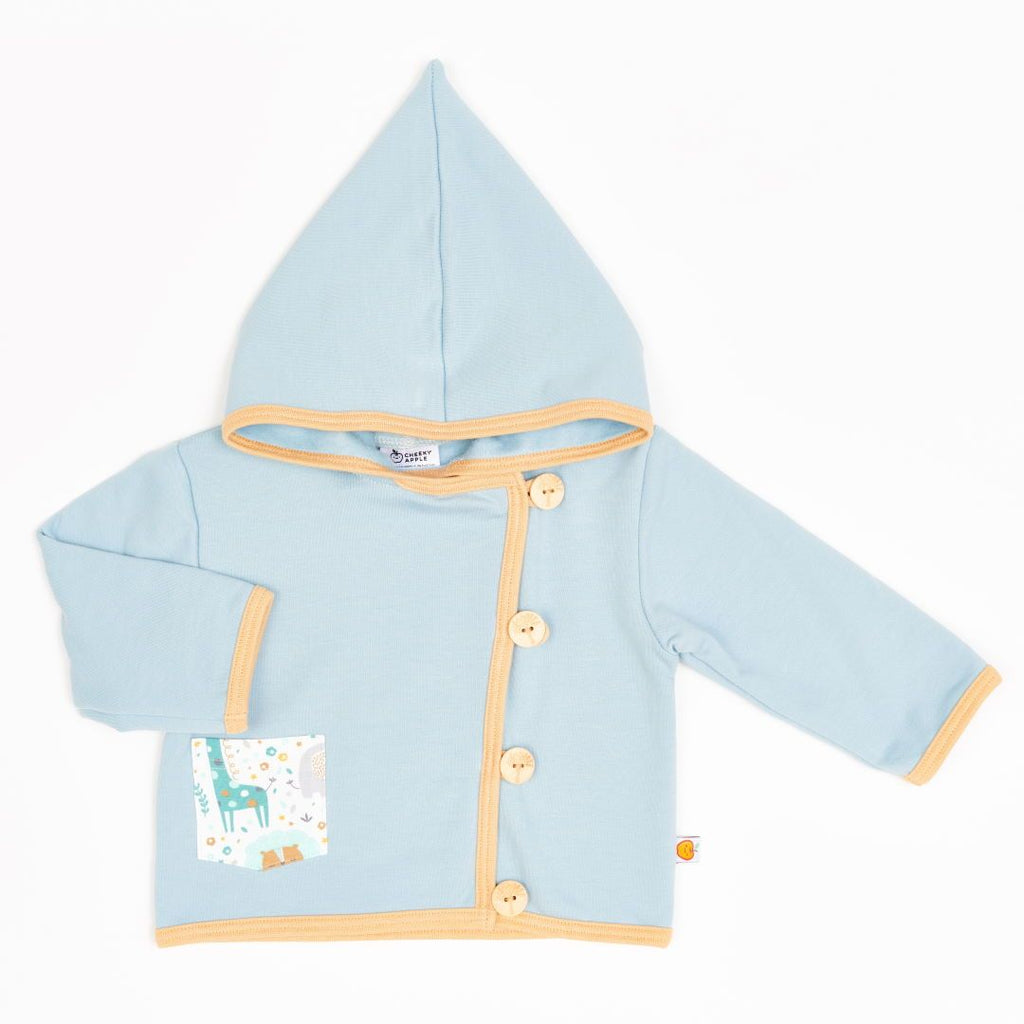 "Baby hoodie jacket ""Sweat Frost/Mini Jungle"""