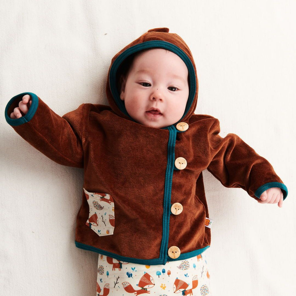 "Baby hoodie jacket ""Nicki Copper 