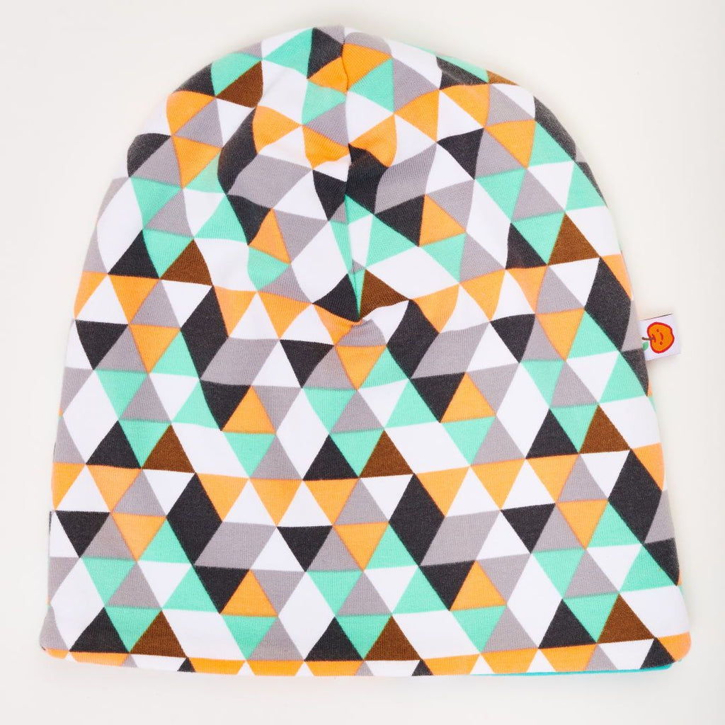 "Beanie ""Triangles/Turquoise"""