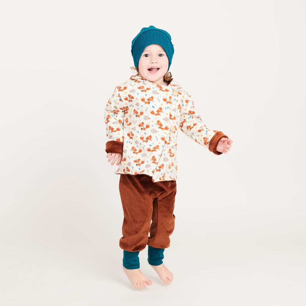 "Reversible baby jacket ""Fox&Hedgehog/Nicki Copper"""
