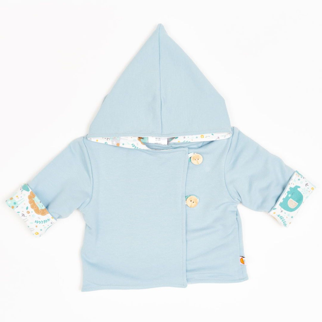 "Reversible baby jacket ""Frost/Mini Jungle"""