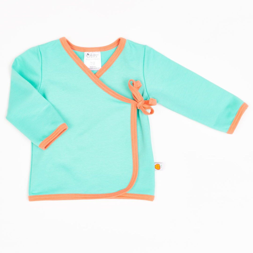 "Wrap jacket ""Mint/Apricot"""