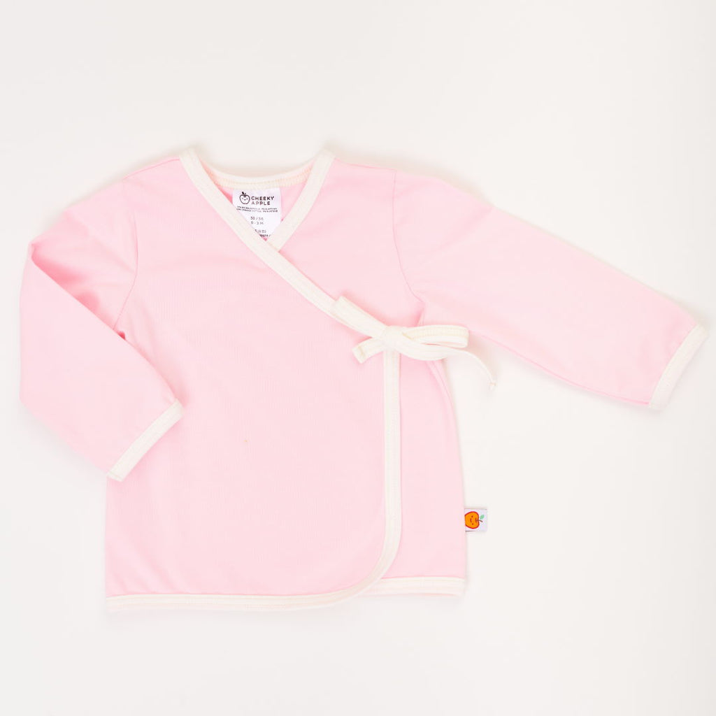 "Wrap jacket ""Summersweat Light Pink/Ecru"""