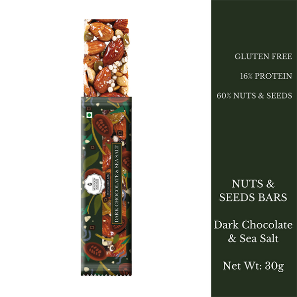 Nuts & Seeds Bars - Dark Chocolate & Sea Salt (Single)