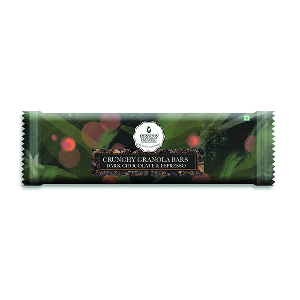 Dark Chocolate & Espresso Crunchy Granola Bar (Single)