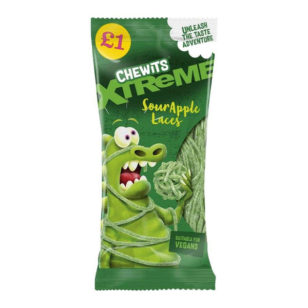 Chewits Xtreme Sour Apple Laces (200G)