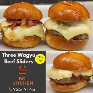Three Wagyu Sliders