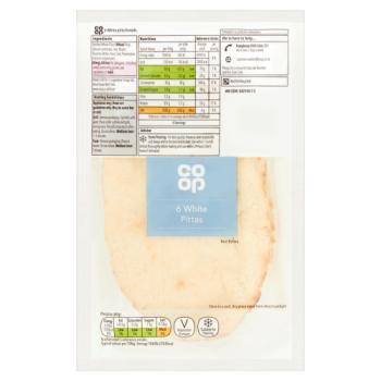 Co-op White Pittas 6pk (600G)