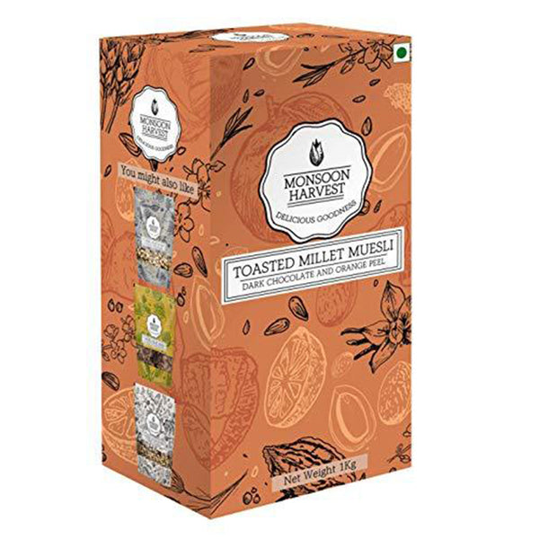 Toasted Millet Muesli Dark Chocolate and Orange Peel (1000g)