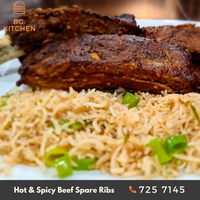 Beef Spare Ribs with Garlic Rice