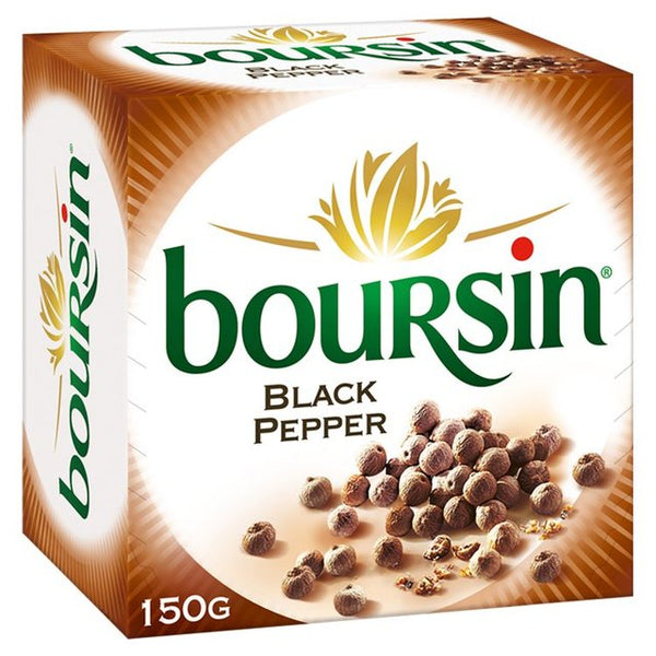 Boursin Cream Cheese With Black Pepper (150g)