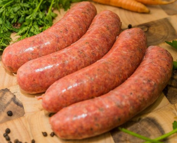 Garlic & Herb Beef Chipolata Sausages (4 pack)