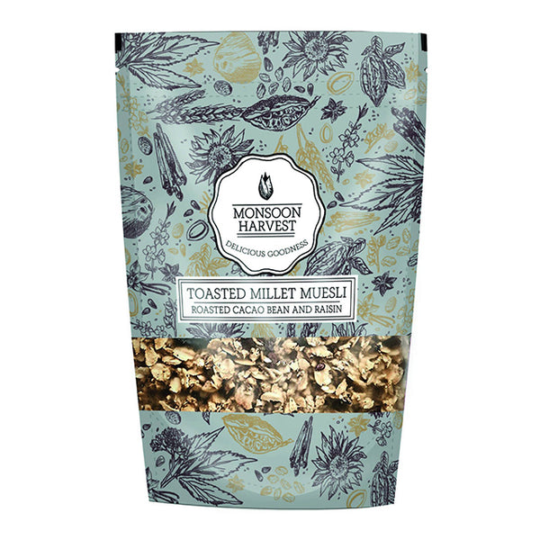 Toasted Millet Muesli Roasted Cacao Bean and Raisin (250g)