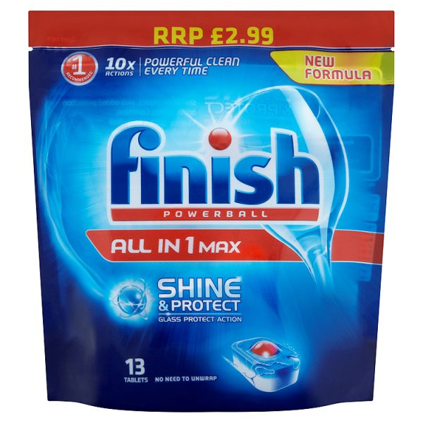 Finish All In 1 Shine&Protect Dishwasher Tab (208G)