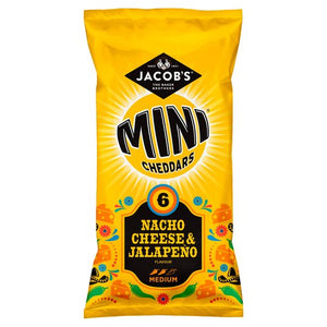 Jacobs Mini Cheddar Nacho Cheese & Jalapeno (150g) (6-Pack)