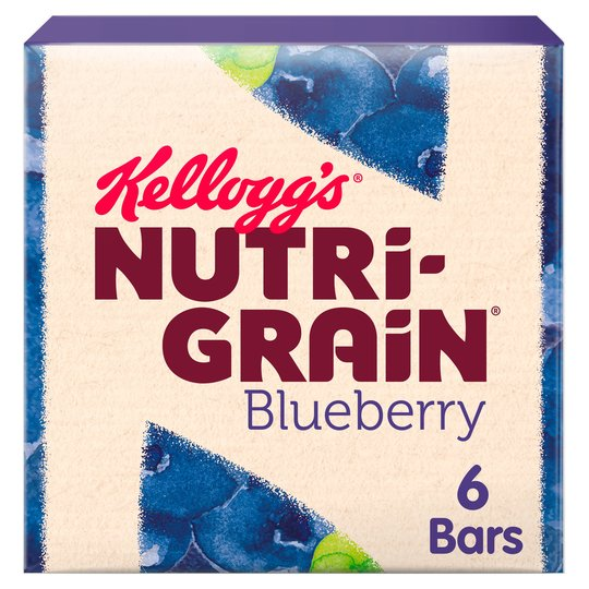 Kelloggs Nutrigrain Blueberry (6X37G)