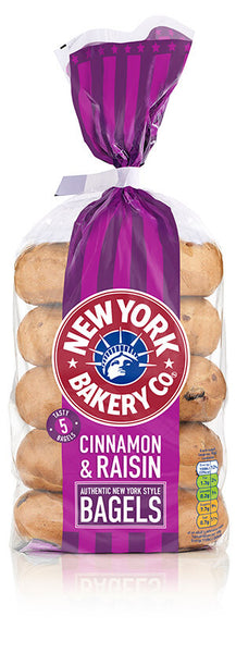 New York Cinnamon & Raisin Bagels 4pack (140G)