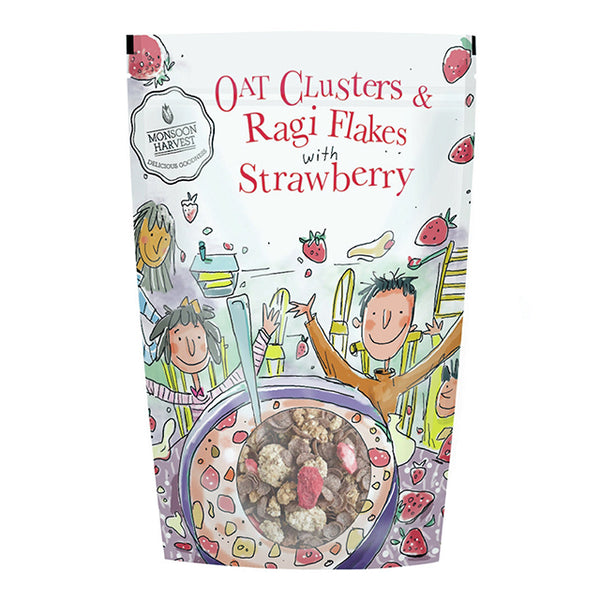 Oat Clusters & Ragi Flakes with Strawberry (350g)