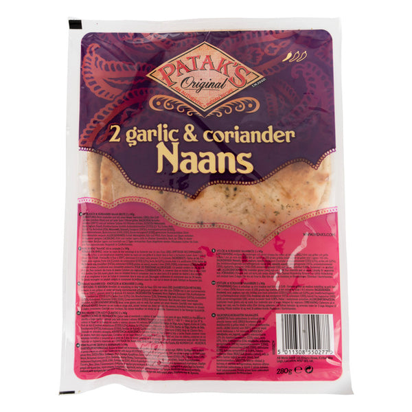 Pataks Garlic And Coriander Naan X 2 (280G)