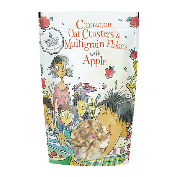 Cinnamon Oat Clusters & Multigrain Flakes with Apple (350g)