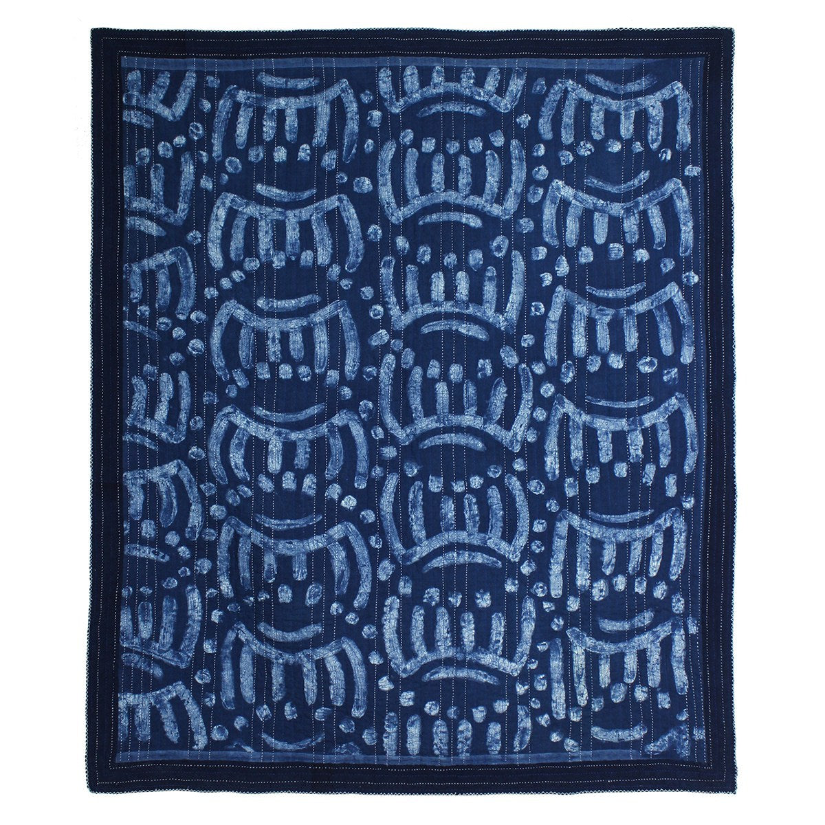 Indigo dyed woven quilt