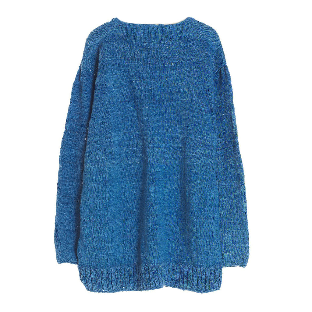 Hand Knitted Natural Indigo JUMP Sweater