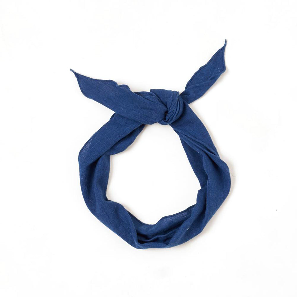 Hand Spun Cotton Natural Indigo Bandana