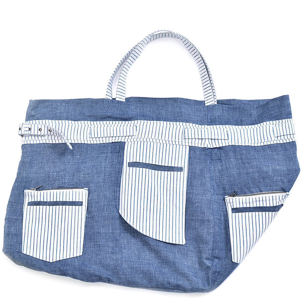 Multipurpose Indigo Dyed Beach Bag