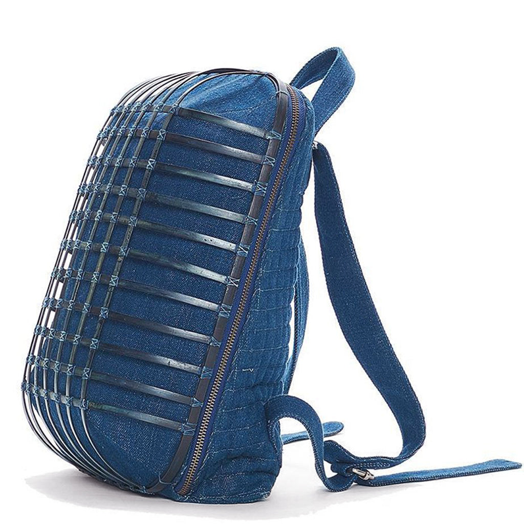Bamboo Sculpted Denim Back Pack