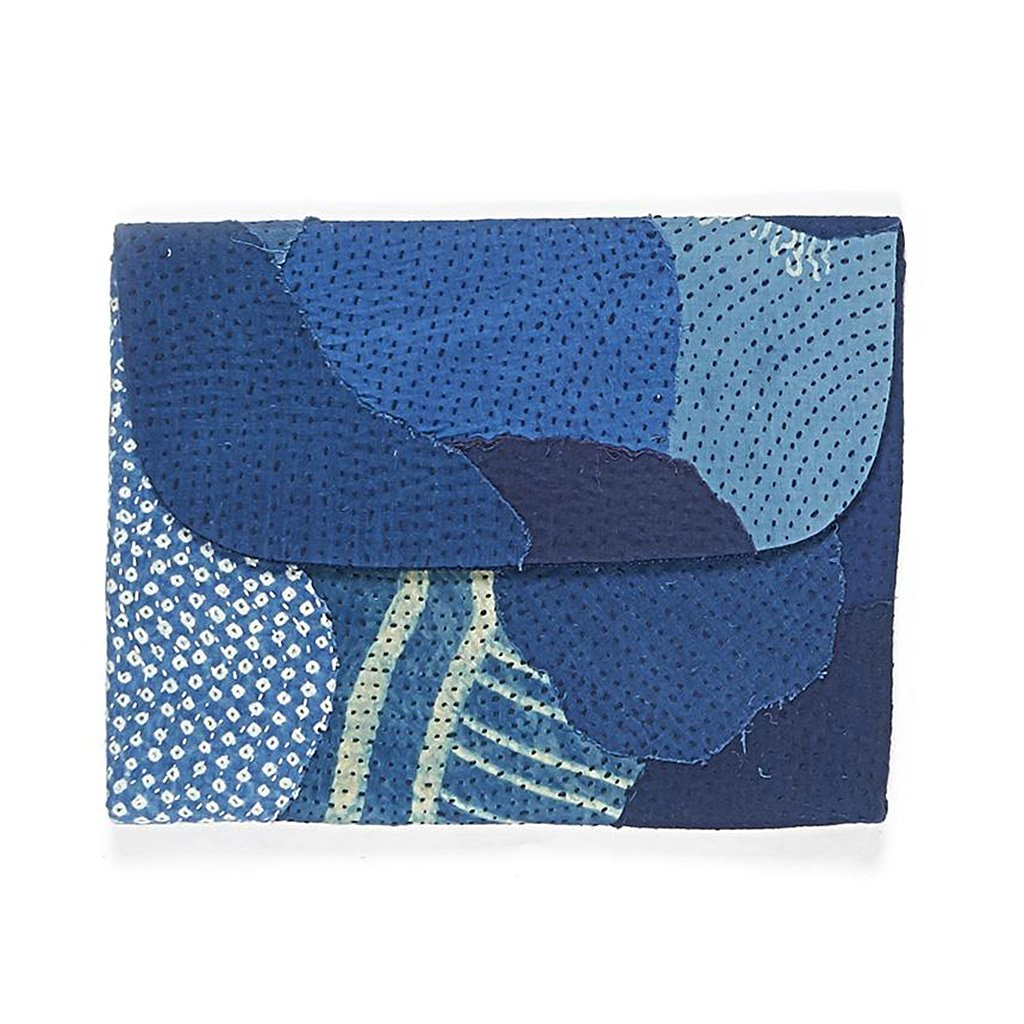 Indigo and blue quilt laptop sleeve