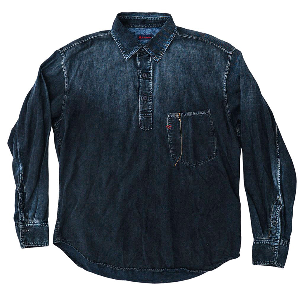 Transnomadica 45RPM Overdyed Popover Denim Shirt